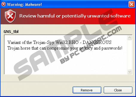 Remove Trojan-Spy.win32.BHO