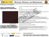 Oficina virtual de denuncias virus
