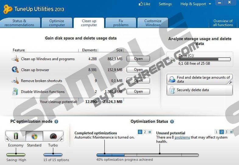 Remove TuneUp Utilities 2013