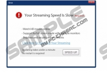 Your Streaming Speed Is Slow popup