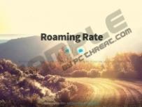 Roaming Rate