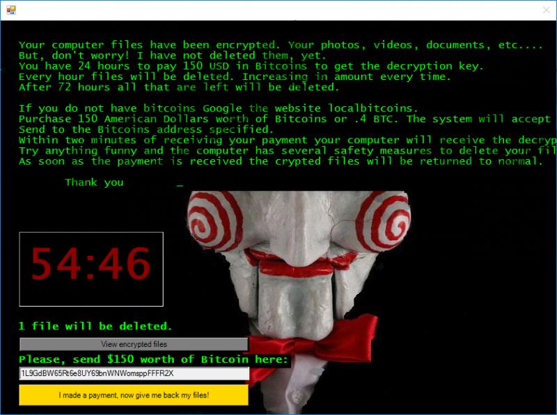 Remove Jigsaw Ransomware