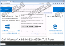 Call Windows Help Desk Immediately Tech Support fake alert