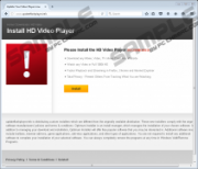 Please Install Hd Video Player popup