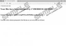 Cyberresearcher Ransomware