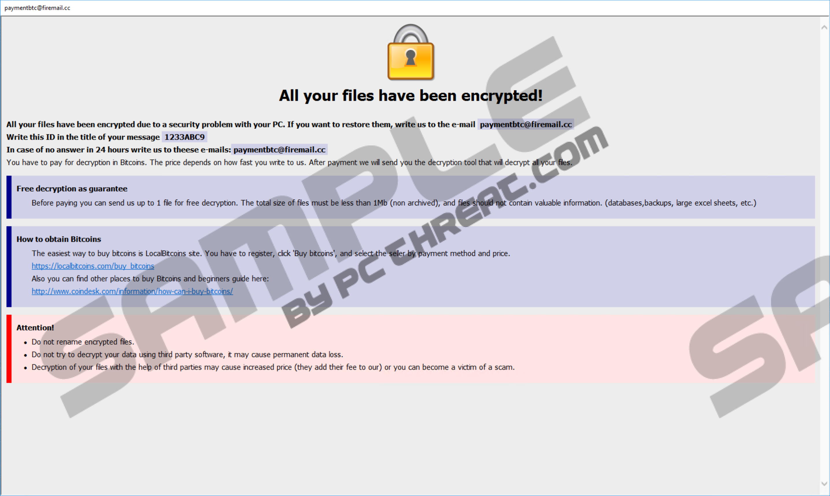 Remove Cmb Dharma Ransomware