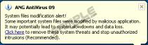 System Files Modification Alert! Pop up
