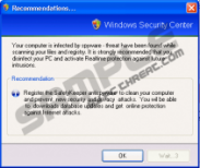 Recommendations... Windows Security Center Pop-up Alert